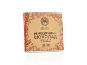 Молочный Шоколад на Меду  - Брусника