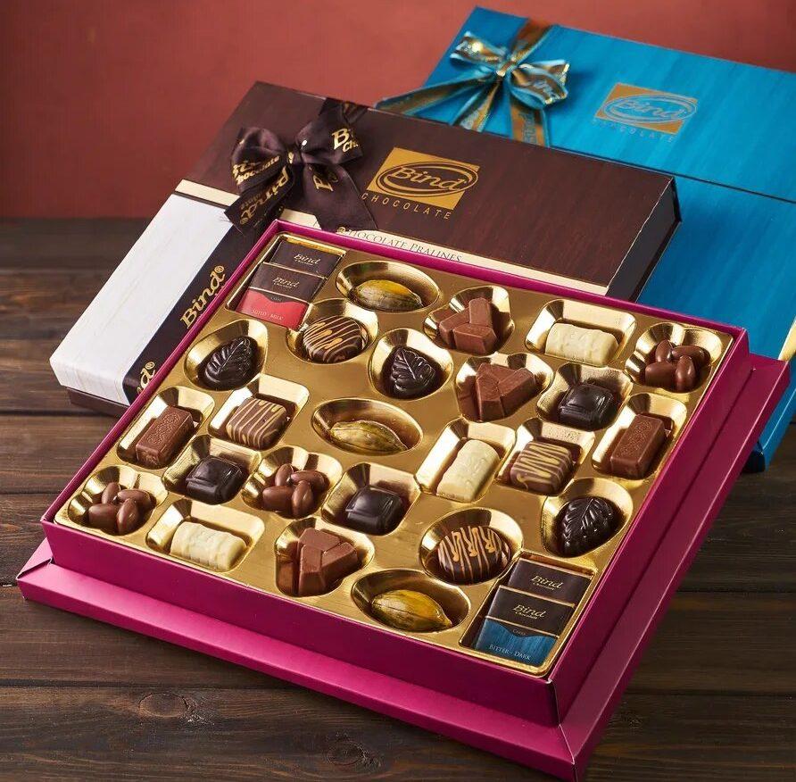 Шоколадные подарочные наборы BIND