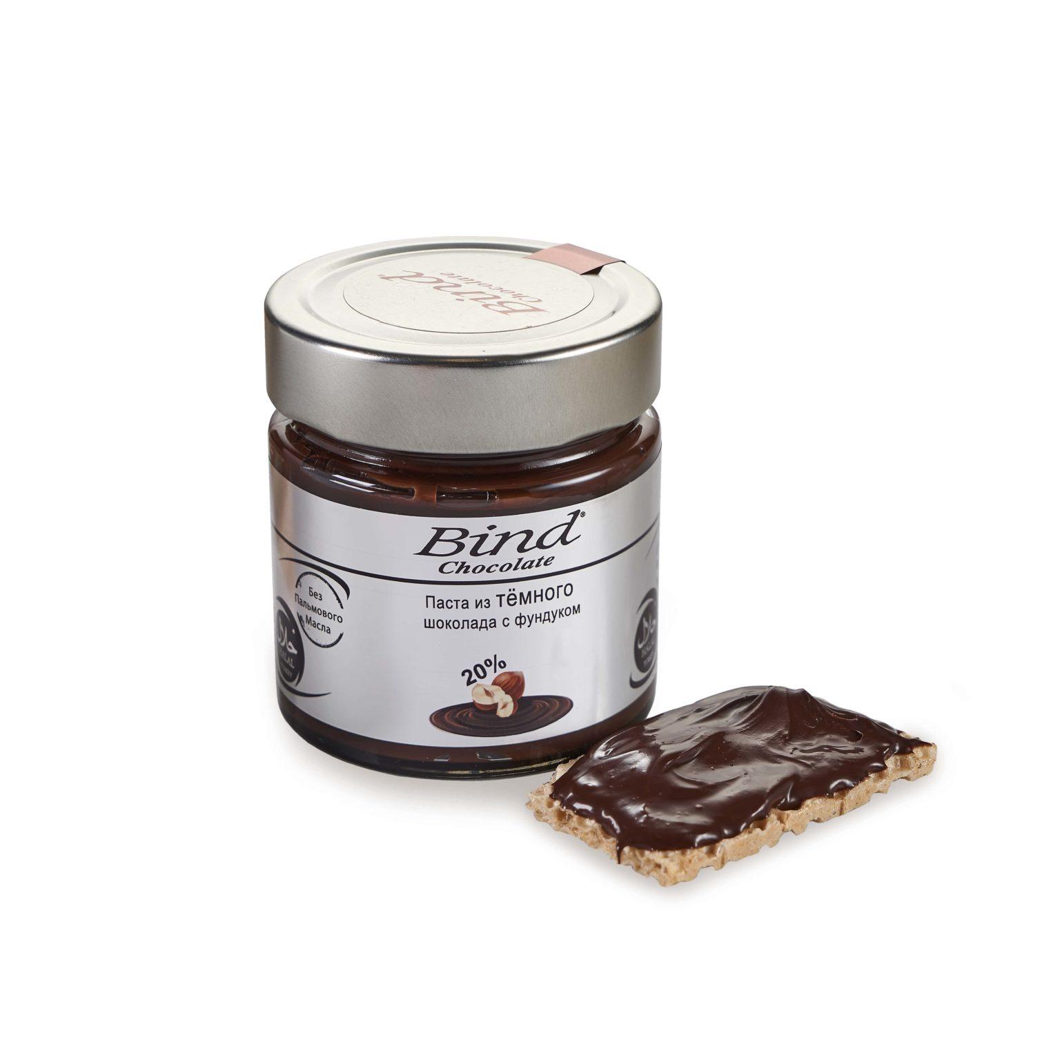 Вкуснейшая паста из темного шоколада и фундука