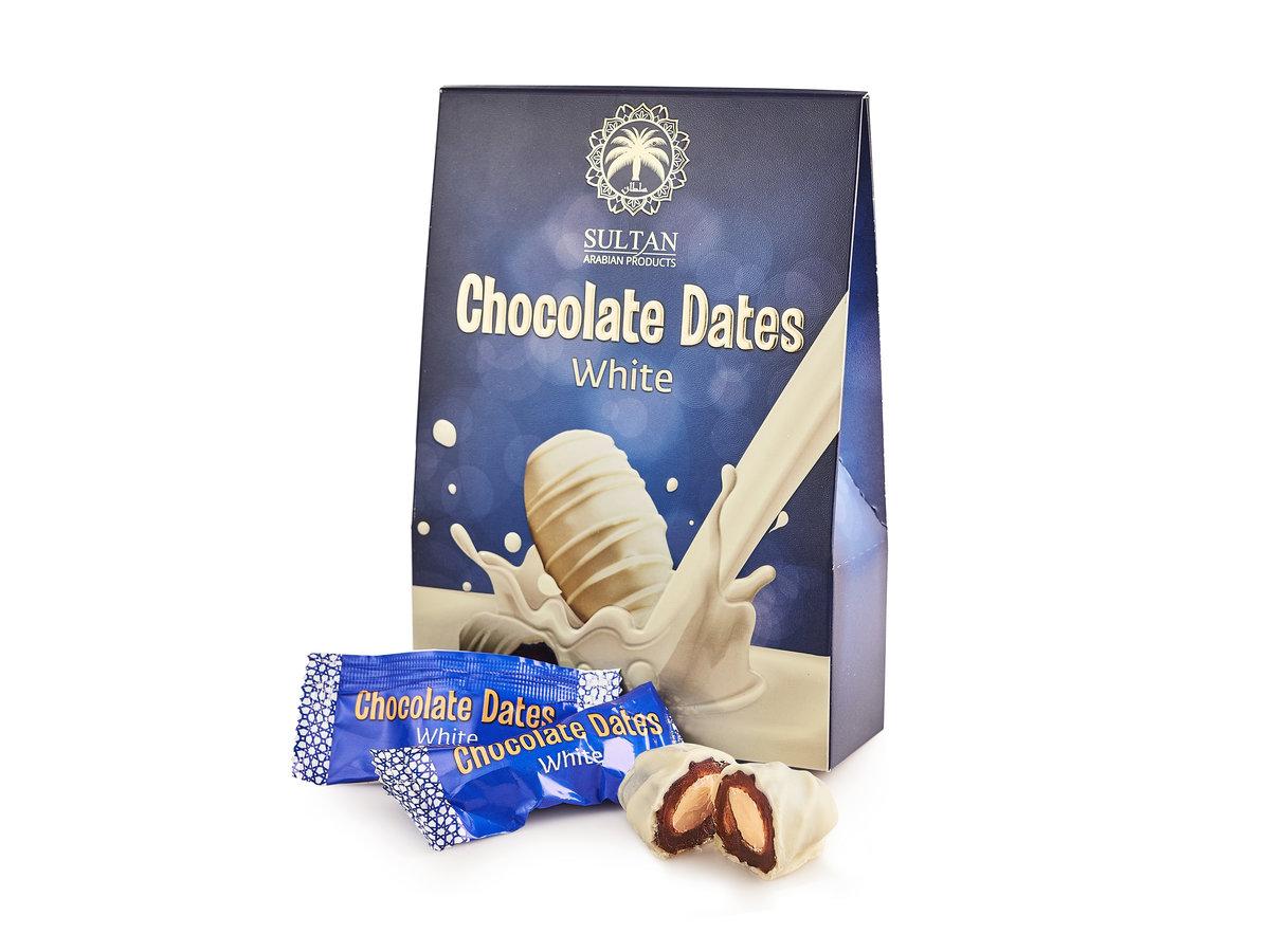 Финики в белом шоколаде