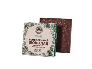 Молочный Шоколад на Меду — Кедровый орех