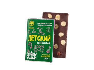 Детский молочный шоколад на Меду — с фундуком