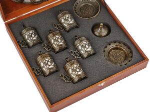 Подарочный набор посуды в деревянной коробке - фото 1