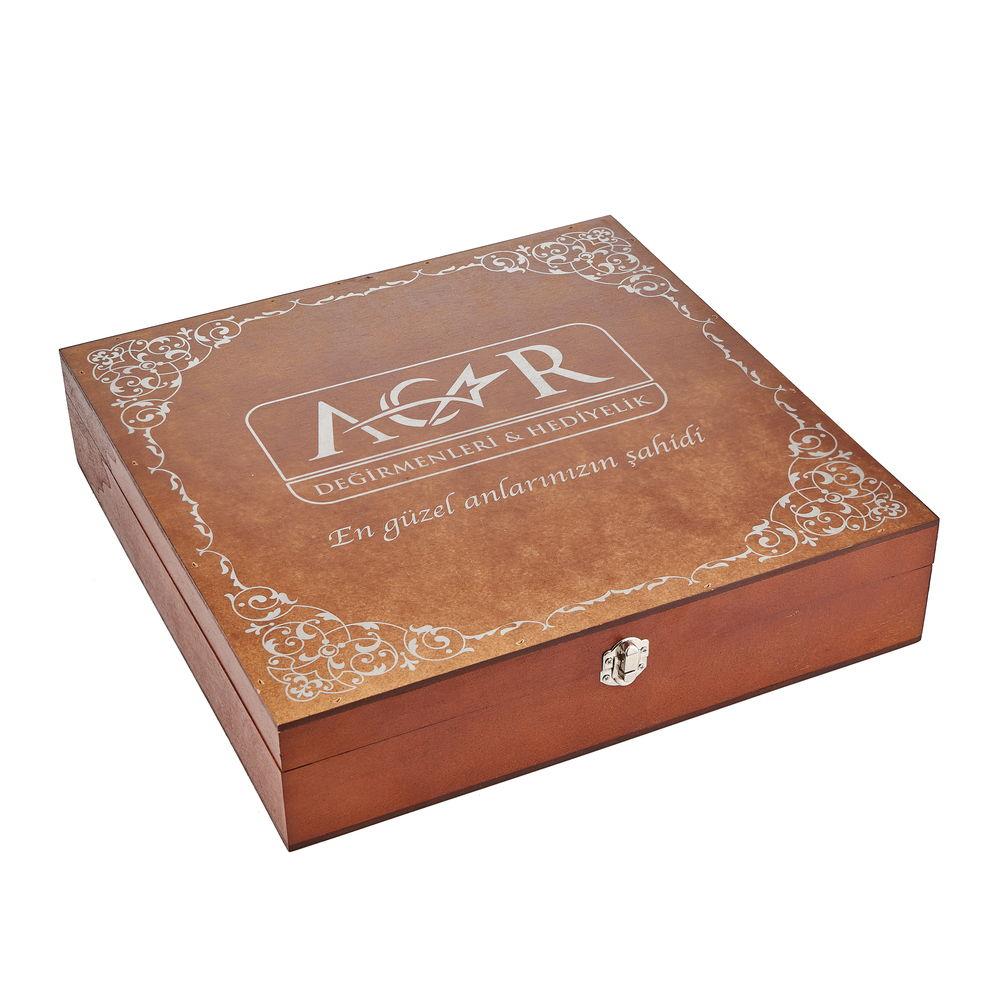 Подарочный набор посуды в деревянной коробке - фото 3