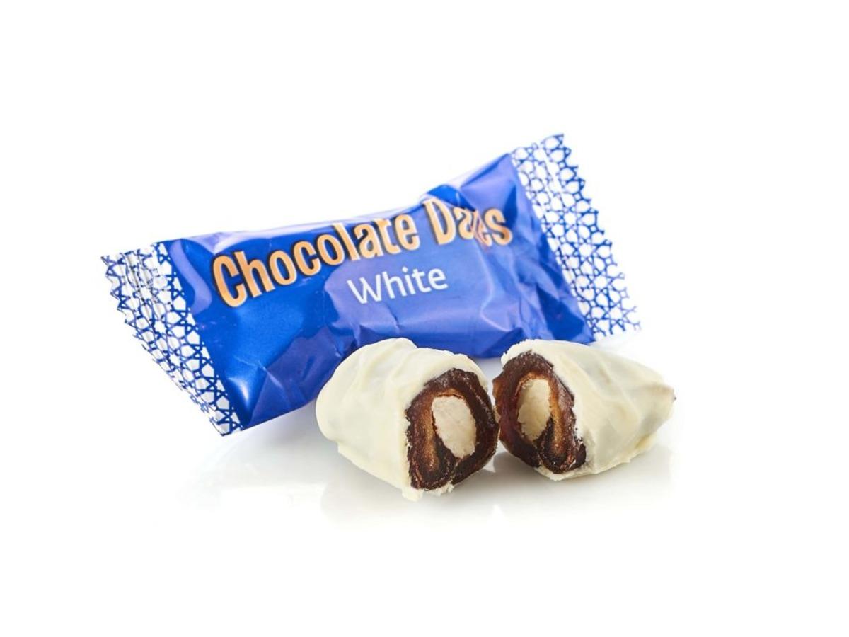 Финики в бельгийском шоколаде Chocolate Dates WHITE весовые
