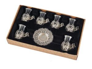 подарочный кофейный набор серебро султан