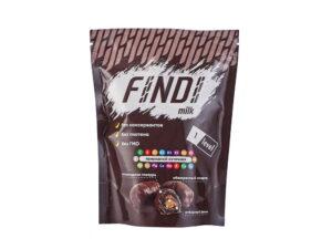 Финики с миндалем в шоколадной глазури Findi MILK 150гр