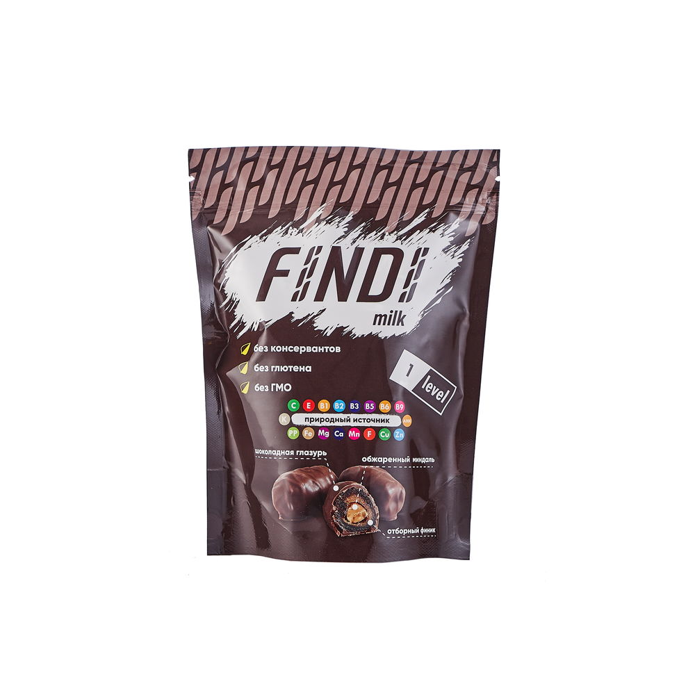Финики с миндалем в шоколадной глазури Findi MILK