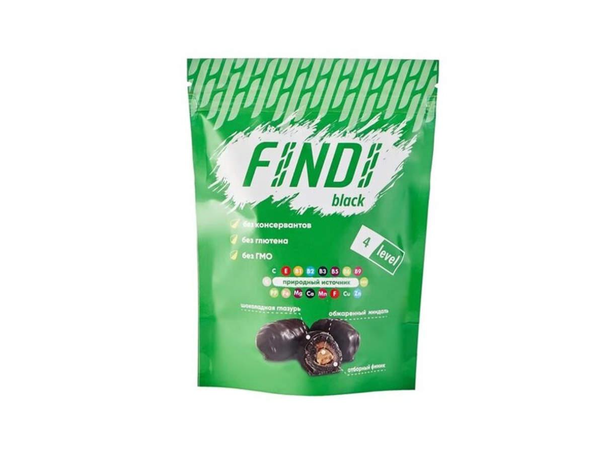 Финики с миндалем в шоколадной глазури Findi BLACK