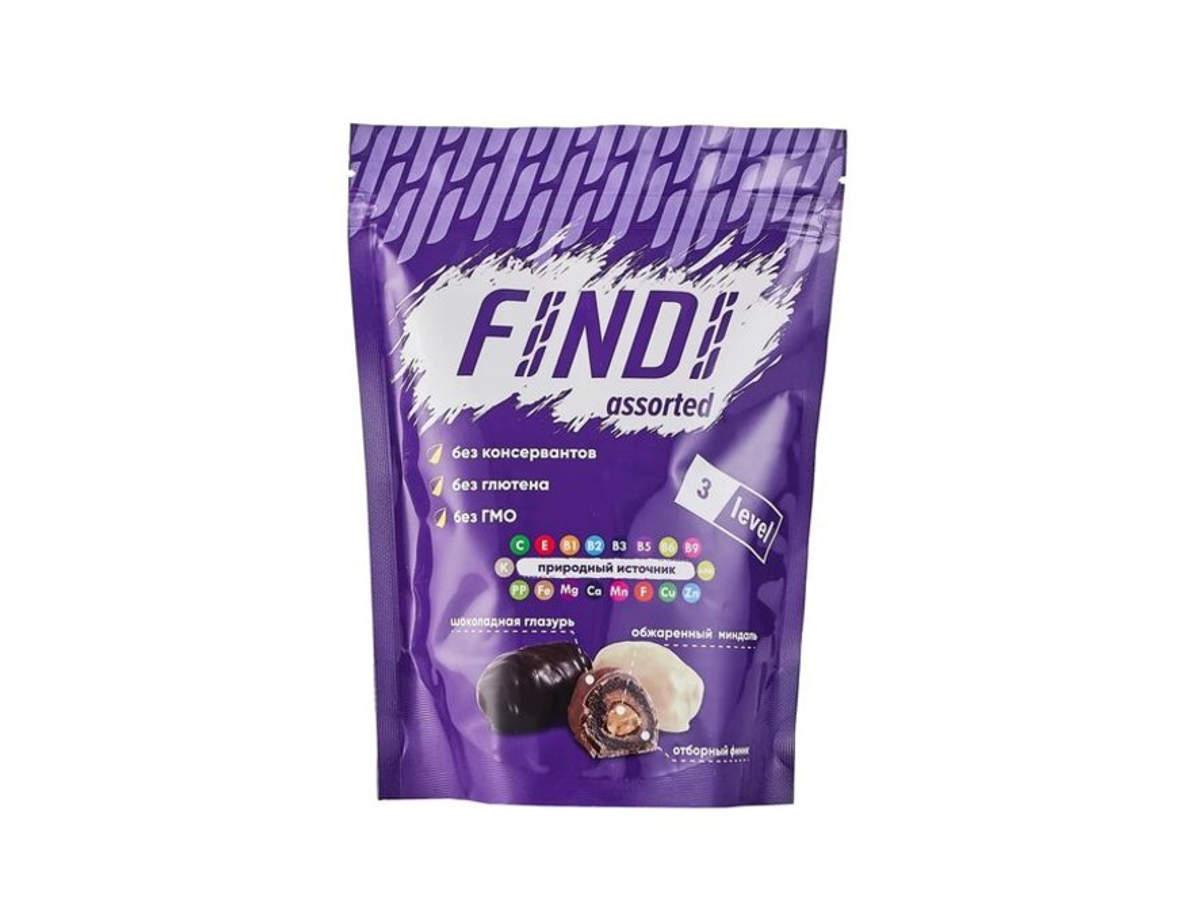 Финики с миндалем в шоколадной глазури Findi ASSORTED