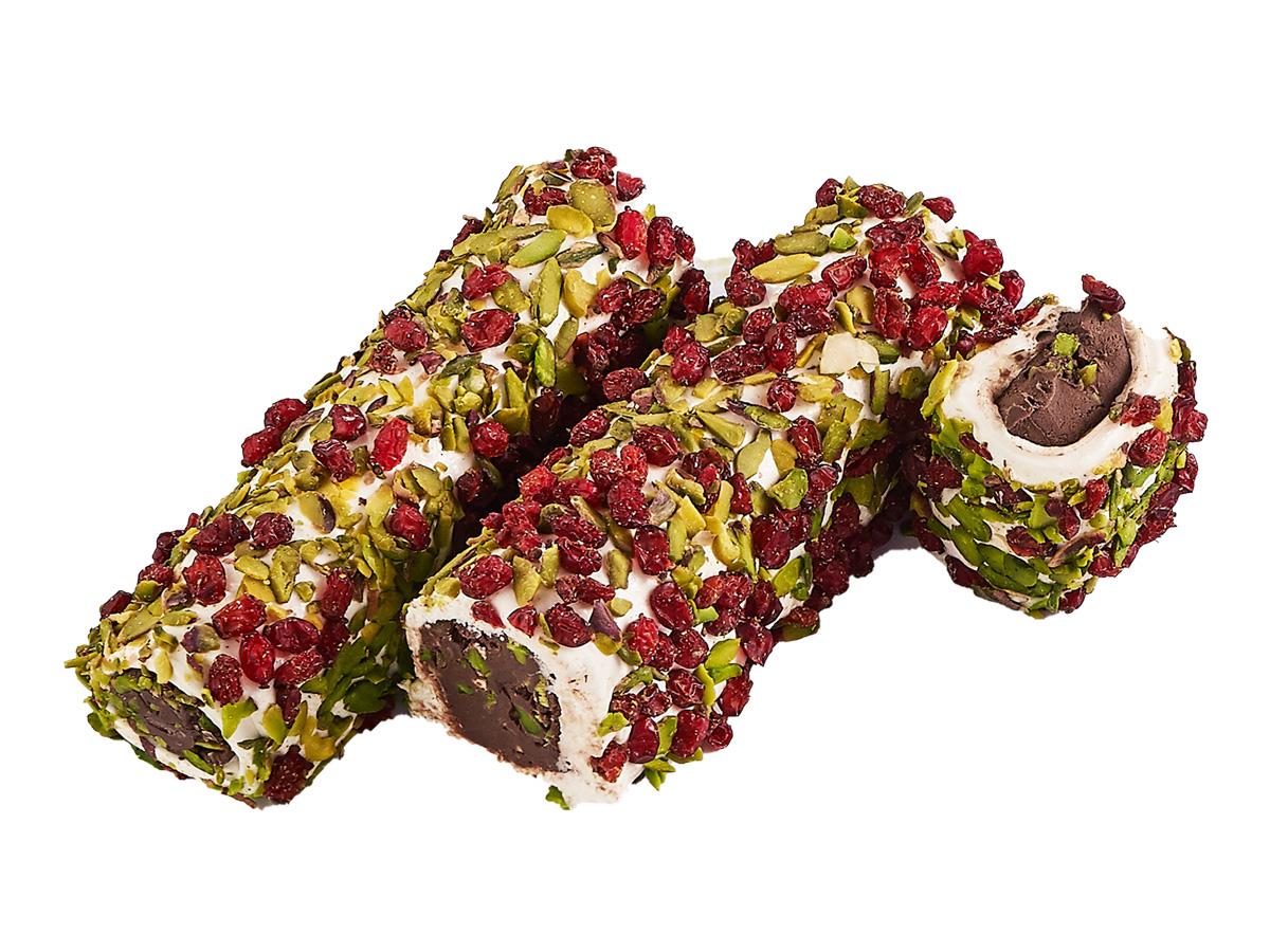 Рахат-лукум молочный с барбарисом, фисташкой и шоколадной пастой «Sultan»