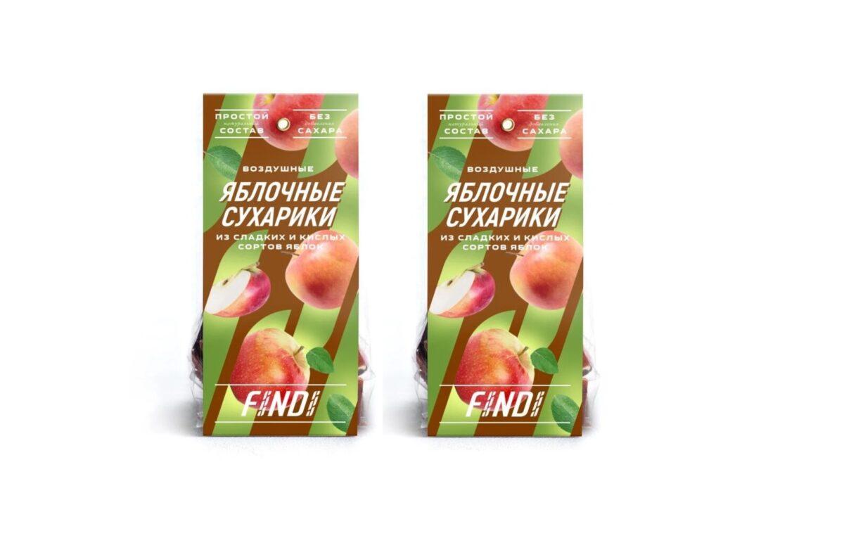 Яблочные сухарики 2 уп. ПРОМО